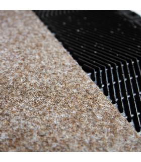 Elvis doormat detail in rubber and carpet