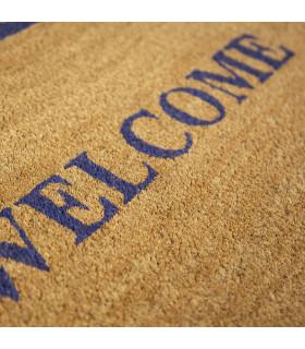 Detail of the Wish Welcome doormat in natural coconut