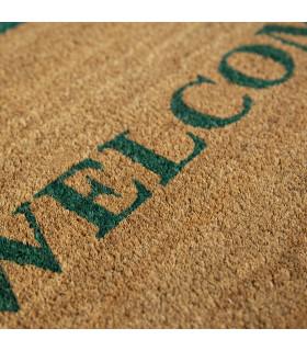 Coconut and rubber doormat detail