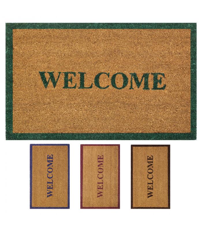 Wish welcome natural coconut doormat 4 colors rectangular