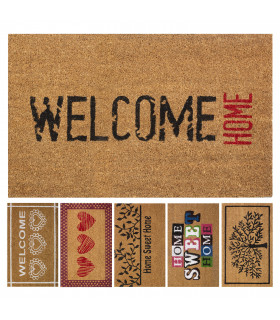 Coconut entrance mat with 6 acrylic prints