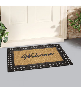 Rubber doormat for outdoor