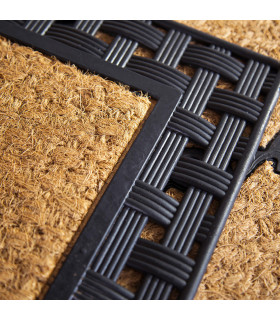 Eden coconut and woven rubber doormat detail