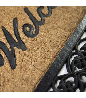 Detail doormat in coconut and rubber for entrance