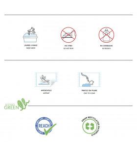 Etichetta zerbino Eden Arco in gomma e cocco
