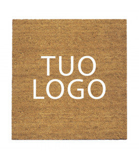 Coconut doormat customized with printed logo