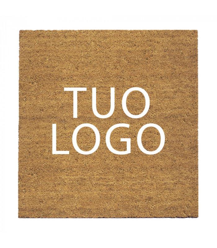 Zerbino in cocco personalizzato con logo stampato