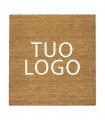 COCCO PRINTED Doormat in natural coconut, professional and customized with logo, with non-slip bottom, for indoors and outdoors