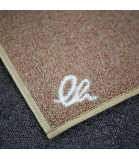 Detail of the modern designer kitchen rug