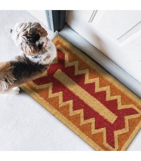 Imperiale hand-woven natural coconut doormat