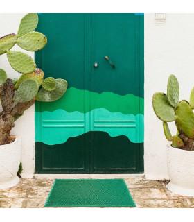 Green 100% recyclable rubber doormat