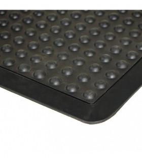 Rubber doormat for work environments